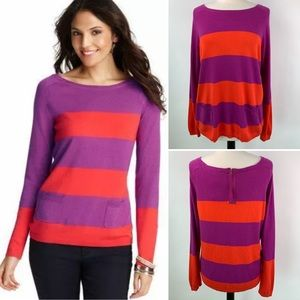 NWT Ann Taylor LOFT Bold Striped Sweater Large